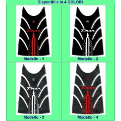 3D ADHESIVE TANK DOOR PROTECTION FOR YAMAHA T-MAX 500 2008/2011 RED BLACK