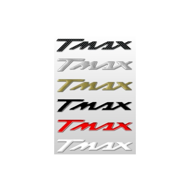 COPPIA ADESIVI SCRITTA T-MAX COLORE ROSSO CM 16 X 2,6 2pz.
