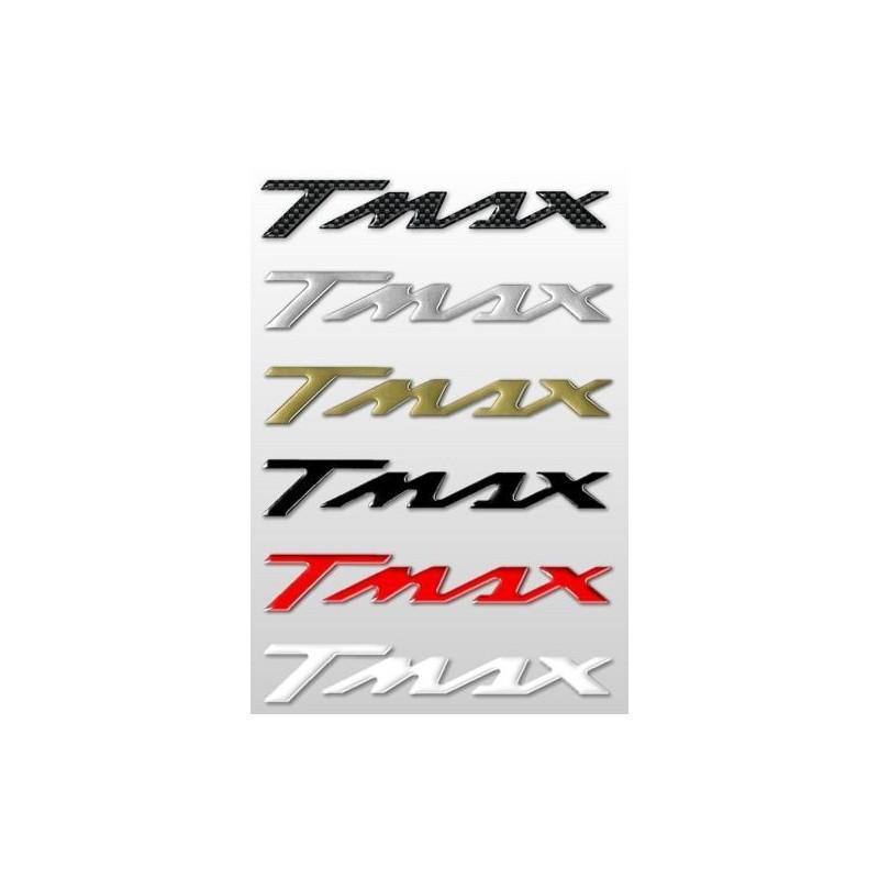 COPPIA ADESIVI SCRITTA T-MAX COLORE CARBON CM 16 X 2,6 2pz.