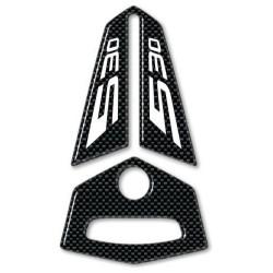 ADESIVO 3D PROTEZIONE STERZO PER YAMAHA T-MAX 530 2012/2016 CARBON BIANCO