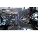 ADESIVO 3D PROTEZIONE SPORTELLO SERBATOIO PER YAMAHA T-MAX 500 2008/2011 CARBON