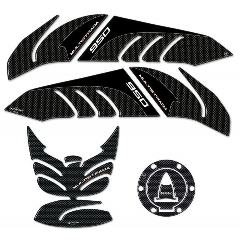 3D STICKER KIT FOR TANK, CAP AND SIDE PROTECTION FOR DUCATI MULTISTRADA 950