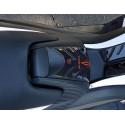 ADESIVO 3D PROTEZIONE SPORTELLO SERBATOIO PER YAMAHA T-MAX 530 2012/2016 NERO BIANCO