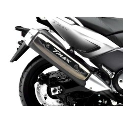 3D STICKER GUARD EXHAUST TERMINAL FOR YAMAHA T-MAX 500 2008/2011 SILVER CARBON