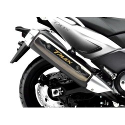 3D STICKER GUARD EXHAUST TERMINAL FOR YAMAHA T-MAX 500 2008/2011 CARBON GOLD