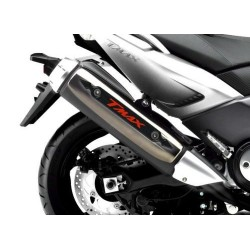 3D STICKER GUARD EXHAUST TERMINAL FOR YAMAHA T-MAX 500 2008/2011 CARBON RED
