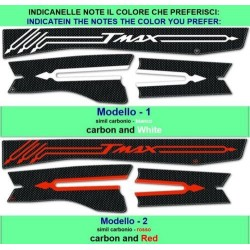 3D ADHESIVE FORK PROTECTION AND STRAP CARTER FOR YAMAHA T-MAX 530 2012/2016 RED CARBON