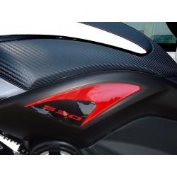 ADESIVO 3D PROTEZIONE FIANCHETTI SOTTOSELLA YAMAHA T-MAX 530 2012/2016 NERO ROSSO