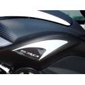 ADESIVO 3D PROTEZIONE FIANCHETTI SOTTOSELLA YAMAHA T-MAX 530 2012/2016 CARBON BIANCO