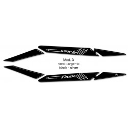 3D STICKER PASSENGER HANDLES PROTECTION FOR YAMAHA T-MAX 530 2017/2019 BLACK SILVER