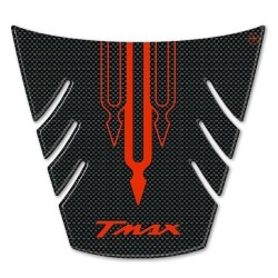 3D STICK PROTECTION TAIL FOR YAMAHA T-MAX 500 2008/2011 CARBON RED LOGO