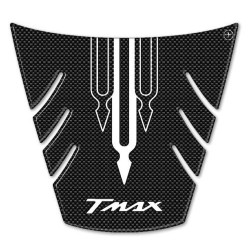 3D STICK PROTECTION TAIL FOR YAMAHA T-MAX 500 2008/2011 CARBON WHITE LOGO