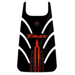 3D STICKER TANK DOOR PROTECTION FOR YAMAHA T-MAX 500 2001/2007 BLACK RED
