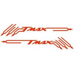 ADESIVI PRESPAZIATI TMAX E DIAPASON PER YAMAHA T-MAX 500/530 2001/2016 ROSSO CM 48 X 8.2