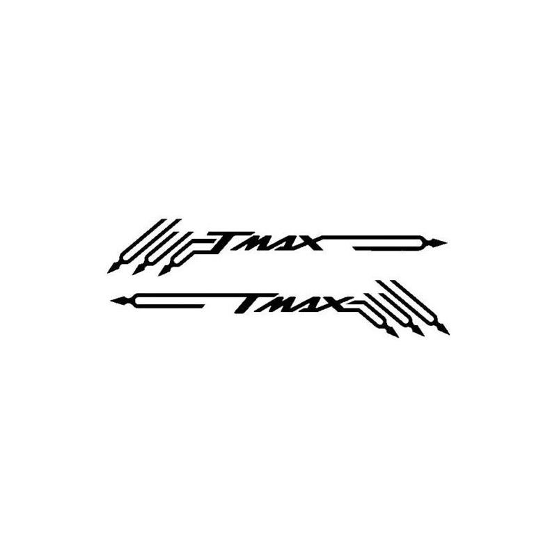 ADESIVI PRESPAZIATI TMAX E DIAPASON PER YAMAHA T-MAX 500/530 2001/2016 NERO CM 48 X 8.2