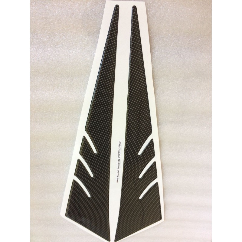 3D STICKERS FRONT SIDE PROTECTIONS FOR YAMAHA T-MAX 530 2012/2016 CARBON