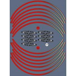 """KIT STICKER EDGES FOR WHEEL RIMS YAMAHA MT-07 17""""RED ITALY FLAG"""
