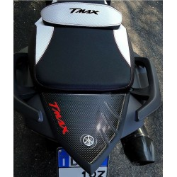 3D STICK PROTECTION TAIL FOR YAMAHA T-MAX 530 2012/2016 CARBON LOGO RED