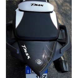 3D STICK PROTECTION TAIL FOR YAMAHA T-MAX 530 2012/2016 CARBON WHITE LOGO