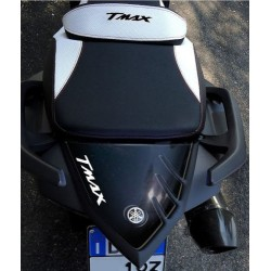 3D STICK PROTECTION TAIL FOR YAMAHA T-MAX 530 2012/2016 BLACK WHITE LOGO