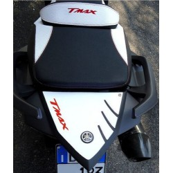 3D STICK PROTECTION TAIL FOR YAMAHA T-MAX 530 2012/2016 WHITE RED LOGO