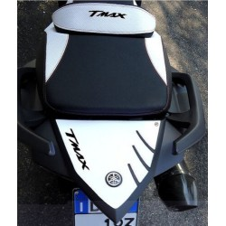 3D STICK PROTECTION TAIL FOR YAMAHA T-MAX 530 2012/2016 WHITE BLACK LOGO