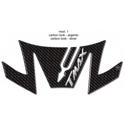 3D STICK PROTECTION TAIL FOR YAMAHA T-MAX 530 2017/2019 CARBON SILVER LOGO