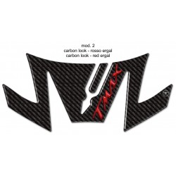 3D STICK PROTECTION TAIL FOR YAMAHA T-MAX 530 2017/2019 CARBON RED LOGO