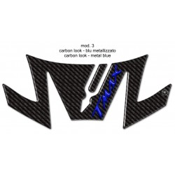 3D STICK PROTECTION TAIL FOR YAMAHA T-MAX 530 2017/2019 CARBON LOGO BLUE