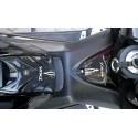 ADESIVI 3D PROTEZIONE TUNNEL, SPORTELLO SERBATOIO PER YAMAHA T-MAX 500 2008/2011 CARBON BIANCO