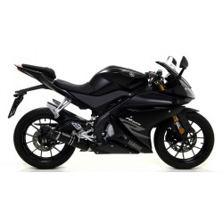 ARROW THUNDER CATALYTIC EXHAUST SYSTEM IN DARK ALUMINUM WITH CARBON CUP FOR YAMAHA YZF-R 125 2017/2018*