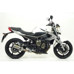 ARROW THUNDER CATALYTIC COMPLETE EXHAUST SYSTEM IN TITANIUM CARBON CUP FOR YAMAHA XJ6 2009/2016, APPROVED