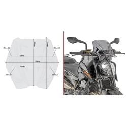 WINDSHIELD GIVI FOR KTM 790 DUKE 2018/2020, SMOKED