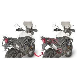 GIVI QUICK-RELEASE FRAME PLR6413 FOR MONOKEY SIDE CASES FOR TRIUMPH TIGER 800 XC 2018/2020