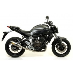 ARROW THUNDER COMPLETE HIGH EXHAUST SYSTEM IN TITANIUM CARBON CUP FOR YAMAHA MT-07 2014/2020