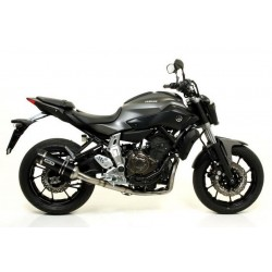 ARROW THUNDER COMPLETE HIGH EXHAUST SYSTEM IN DARK ALUMINUM CARBON CUP FOR YAMAHA MT-07 2014/2020
