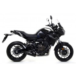 ARROW JET RACE COMPLETE CATALYTIC EXHAUST SYSTEM IN DARK CARBON STEEL FOR YAMAHA TRACER 700 2016/2019