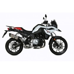 MIVV SOUND EXHAUST SYSTEM IN STAINLESS STEEL CARBON BASE FOR BMW F 750 GS 2018/2020, APPROVED