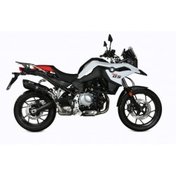 EXHAUST TERMINAL MIVV SOUND BLACK FOR BMW F 750 GS 2018/2020, APPROVED