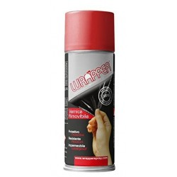 REMOVABLE WRAPPER SPRAY CYLINDER COLOR FIRE RED