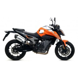 ARROW RACE-TECH ALUMINUM EXHAUST PIPE WITH CARBON BASE FOR KTM 790 DUKE 2018/2019, APPROVED