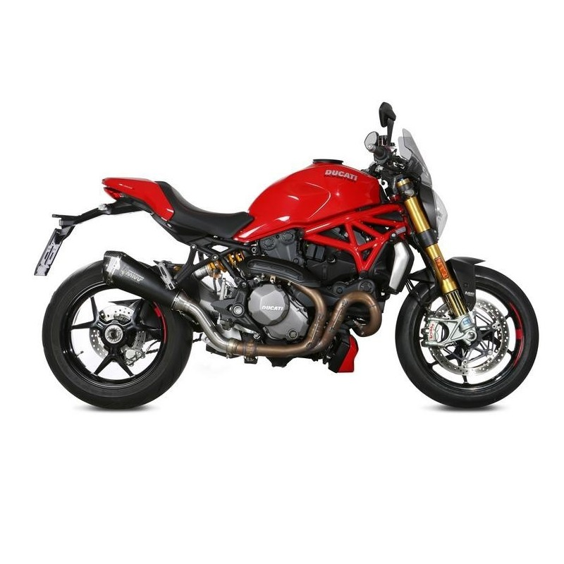 EXHAUST TERMINAL MIVV DELTA RACE BLACK CARBON BASE FOR DUCATI MONSTER 821 2018/2020, APPROVED
