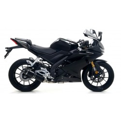 ARROW THUNDER COMPLETE EXHAUST SYSTEM IN DARK ALUMINUM WITH CARBON BASE FOR YAMAHA YZF-R 125 2019