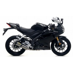 ARROW THUNDER CATALYTIC EXHAUST SYSTEM IN TITANIUM WITH CARBON BASE FOR YAMAHA YZF-R 125 2019
