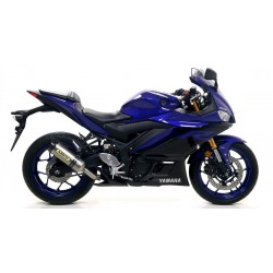 EXHAUST SILENCER ARROW THUNDER IN TITANIUM CARBON BASE FOR YAMAHA YZF-R3 2019/2020, APPROVED