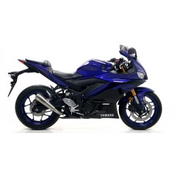 EXHAUST TERMINAL ARROW PRO-RACE IN STEEL FOR YAMAHA YZF-R3 2019/2020, APPROVED