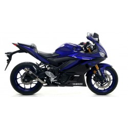 ARROW GP2 EXHAUST SILENCER IN DARK STEEL FOR YAMAHA YZF-R3 2019/2020, APPROVED