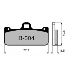 CARBON-CERAMIC PADS SET ZCOO B004 EXC FOR BREMBO RACING CALIPERS X973760/61
