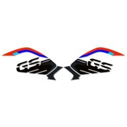 ADESIVI 3D PROTEZIONI LATERALI SERBATOIO RALLY PER BMW R 1250 GS 2018/2020