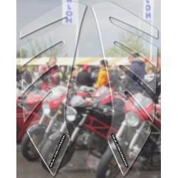 ADESIVI 3D PROTEZIONI LATERALI SERBATOIO PER DUCATI MULTISTRADA 1260 ENDURO 2019/2021, TRASPARENTE